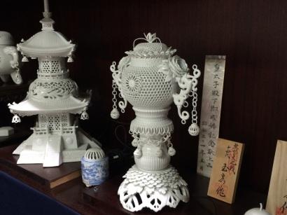 無形文化財にもなっている「玉泉窯」透かし彫り