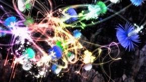 追われるカラス、追うカラスも追われるカラス、そして分割された視点(デジタルインスタレーション)