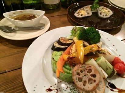 焼野菜のアンチョビソース