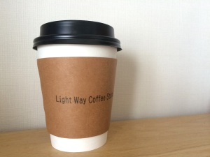 Light Way Coffee Standのラテ