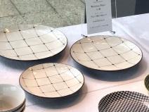 入選 / ブロック彫り皿セット / 利左エ門